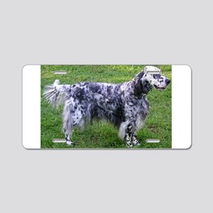English Setter full Aluminum License Plate